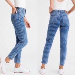 """American Eagle Retro Stripe """"Mom"""" Jeans"""